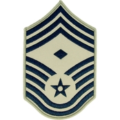 Air Force Chief Master Sergeant Chevron with Diamond Subdued Sew-On Large (ABU)