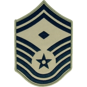 Air Force Senior Master Sergeant Chevron with Diamond Subdued Sew-On Large (ABU)
