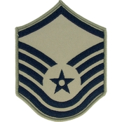 Air Force Master Sergeant Chevron Subdued Sew-On Large (ABU)