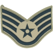 Air Force Staff Sergeant Chevron Subdued Sew-On Large (ABU)