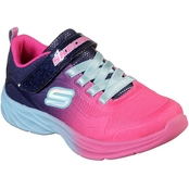 Skechers Girls Lite Runner Ombre Mesh Slip On Sneakers