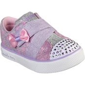 Skechers Toddler Girls Twinkle Breeze 2.0 Sparkle Z Lighted Sneakers