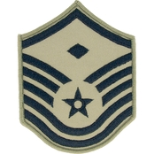 Air Force Master Sergeant Chevron with Diamond Subdued Sew-On Small (ABU)