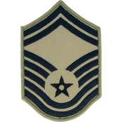 Air Force Senior Master Sergeant Chevron Subdued Sew-On Small (ABU)
