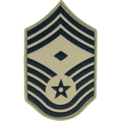 Air Force Chief Master Sergeant Chevron with Diamond Subdued Sew-On Small (ABU)