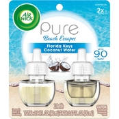 Air Wick Pure Florida Keys Coconut Water Scented Oil Twin Refill
