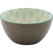 Pfaltzgraff 6 in. Cereal Bowl Stoneware Gray Embossed