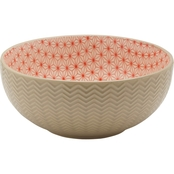 Pfaltzgraff 8 in. Serving Bowl Stoneware Tan Embossed