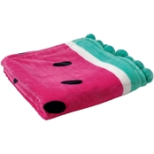 Watermelon Velvet Plush Print Throw