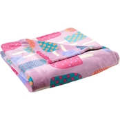 Velvet Plush Popsicle Print Throw Blanket