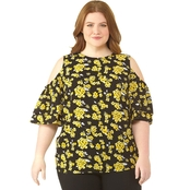 Michael Kors Plus Size Glam Painterly Top