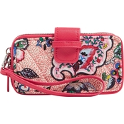 Stitched Flowers Wristlet Smartphone