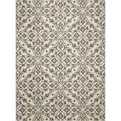 Concord Global New Casa Medallions Ivory 5 x 7 ft. Area Rug