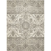 Concord Global New Casa Aubosson Grey 5 x 7 ft. Area Rug
