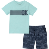 Calvin Klein Infant Boys Tee and Shorts Set
