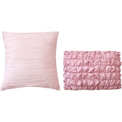 Sara B. Blushing Rose Decorative 2 pc. Pillow Set