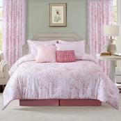 Sara B. Blushing Rose Comforter Set 4 Pc.