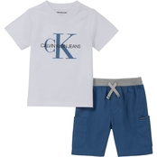 Calvin Klein Infant Boys 2 pc. Shorts Set