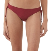 Damsel Juniors Shiny Beaujolais Tie Side Swimsuit Bottom