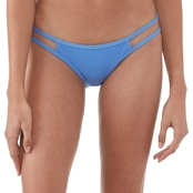 Damsel Blue Pique Strappy Side Cheeky Swim Bottoms