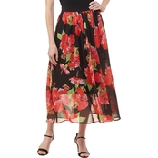 Passports Flower Printed Chiffon Maxi Skirt