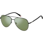 Fossil Metal Aviator Sunglasses FOS3074S 0003EL