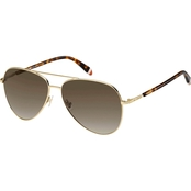 Fossil Metal Aviator Sunglasses FOS3074S 03YGHA