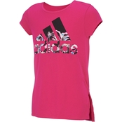 adidas Little Girls Vented Side Seam Tee