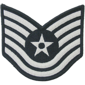 Air Force Technical Sergeant (TSgt) Blue Chevron Small Rank