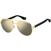 Marc Jacobs Metal Aviator Sunglasses MARC341S 2M2UE