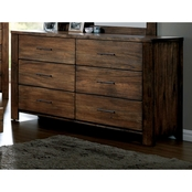 Furniture of America Elkton 6 Drawer Dresser
