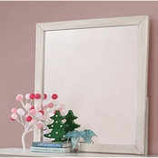 Furniture of America Brogan Antique White Mirror