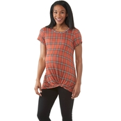 Planet Motherhood Maternity Printed Knotted Tee