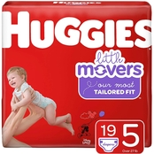 Huggies Little Movers Diapers Size Size 5 (27+ lb.)
