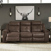 Signature Design by Ashley Jesolo Reclining Sofa and Loveseat with Console Set