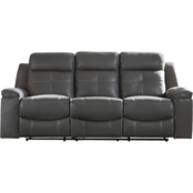 Jesolo Reclining Sofa & Loveseat w Console Set Coffee