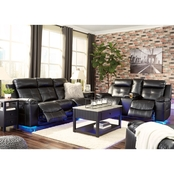 Signature Design by Ashley Kempten Reclining Sofa, Loveseat and Rocker Recliner Set