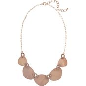 Carol Dauplaise Rose Goldtone 5 Part Natural Shell Collar 20 in. Necklace
