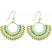 Panacea Mint And Gold Bead Earring