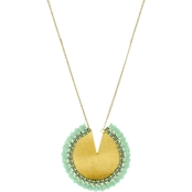 Panacea Goldtone Mint Pendant Necklace