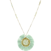 Panacea Mint Crystal Filled Pendant Necklace