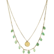 Panacea Mint Square Stone Short 16 in. Necklace