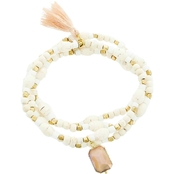 Panacea White Howlite Bracelet Stretch Set