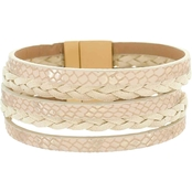 Panacea Braided White Magnetic Bracelet