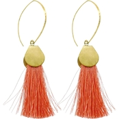 Panacea Coral Silk Tassel with Brass Threader
