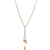 Panacea Y-Necklace With Crystal Charms