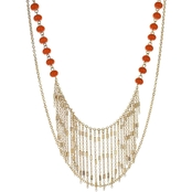 Panacea Coral Stone With Chain Fringe