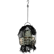Jet Max Limited Bo Lighted Hanging Plastic Skull in Cage