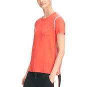 DKNY by Donna Karan Sport Tee with Logo Taping