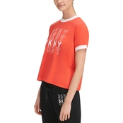 DKNY by Donna Karan Sport Ringer Tee with Thank You Logo